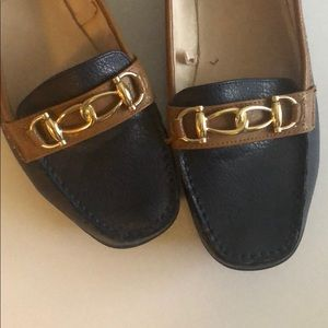 Loafers navy and brown 7.5 M